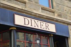 Generische Diner signage royalty-vrije stock afbeeldingen