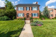 Generische Häuser in Frederick, Maryland lizenzfreies stockbild