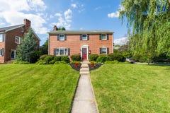 Generische Häuser in Frederick, Maryland lizenzfreie stockfotografie