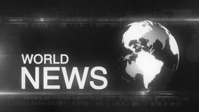 Generische het Nieuwsachtergrond van de bolwereld stock videobeelden