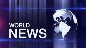 Generische het Nieuwsachtergrond van de bolwereld stock footage