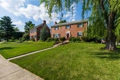 Generische Huizen in Frederick, Maryland stock afbeeldingen