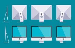 Generische monoblockcomputer royalty-vrije illustratie