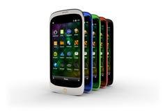 Generische smartphones (met schaduw) Stock Afbeelding