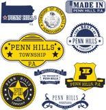 Generische Stempel und Zeichen von Penn Hills-townhip, PA Stockbild