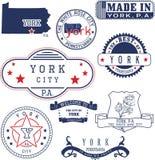 Generische Stempel und Zeichen von York-Stadt, PA Stockbilder
