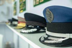 Generische van het Marinehoed/leger kappen bij vertoning royalty-vrije stock fotografie