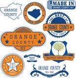 Generische zegels en tekens van Oranje provincie, NY royalty-vrije illustratie