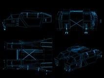 generischer digitaler Plan des futuristc Raumschiffs Stockfotos