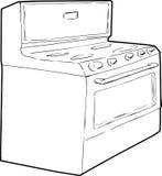 Generischer einzelner Induktions-Ofen-Entwurf Lizenzfreie Stockfotos