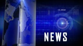 Generischer Hintergrund der Nachrichten stock footage