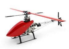 Generischer roter ferngesteuerter Hubschrauber Stockbild