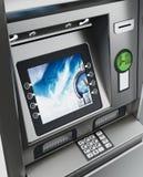 Generisches ATM oder Geldautomat Abbildung 3D Stockfoto