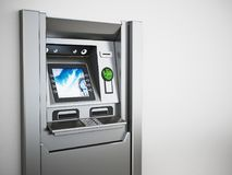 Generisches ATM oder Geldautomat Abbildung 3D Stockbilder