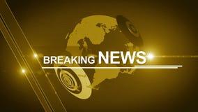 Generisches Gelb 4K des Hintergrundes der Kugelletzten nachrichten stock footage