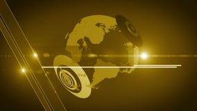 Generisches Gelb 4K des Kugelhintergrundes stock video footage