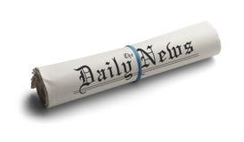 Generisches gerollt herauf Zeitung Lizenzfreie Stockfotos