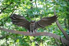 Generisches Metall Owl Figurine Stockbild
