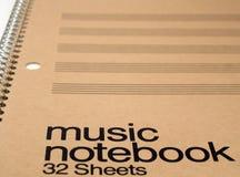 Generisches Musik-Notizbuch lizenzfreies stockfoto