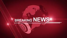 Generisches Rot 4K des Hintergrundes der Kugelletzten nachrichten stock footage