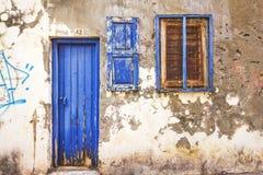 9 9 2016 - Generisk arkitektur i den gamla staden av Rethymno Arkivfoton