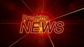 Generisk breaking newsbakgrund stock video