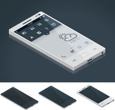 generisk isometrisk smartphonevektor Arkivbilder
