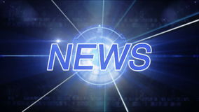 Generisk nyheternabakgrund arkivfilmer