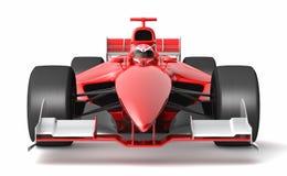Generisk röd racerbil Arkivbild