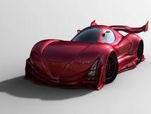 Generisk röd sportbil Arkivbild