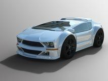 Generisk vit sportbil Arkivbilder