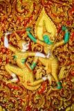 Generiska Ramayana thailändska Art Sculpture Arkivbild