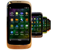 Generiska smartphones Royaltyfria Bilder