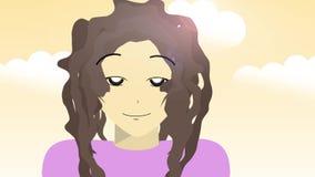 Generiskt fejka den anime- eller Manga handlingshowen - kvinnastående stock illustrationer
