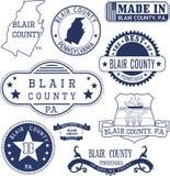 Generiskt stämplar och tecken av Blair County, PA Arkivbild