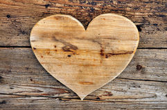 A generous heart wood Royalty Free Stock Photo