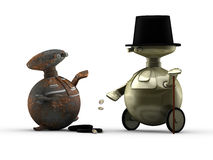 Generous robot gentleman Royalty Free Stock Image