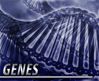 Genes Abstract concept digital illustration Stock Images