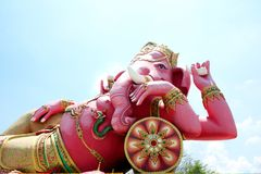 Genesha rosado, templo de Samanrattanaram: Chachoengsao Tailandia Fotografía de archivo libre de regalías