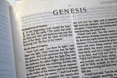 Genesis 1 Bible verse. Close up of Genesis 1 Bible verse Stock Images