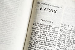 Genesis of the Bible Stock Photo