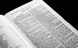 Genesis Chapter 1. Of the Holy Bible Stock Photo