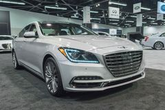 Genesis G80 on display. Anaheim - USA - September 28, 2017: Genesis G80 on display at the Orange County International Auto Show Stock Photo