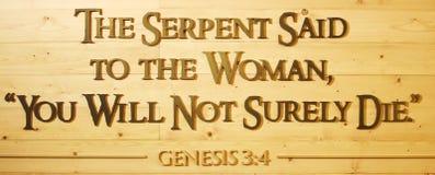 Genesis 3:4 Stock Image