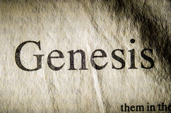 Genesis text header. Royalty Free Stock Photo