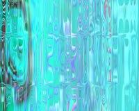 Genetic Art Crystal Blocks Curtains Glowing Blue Stock Photo