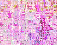 Genetic Art Crystal Reflections Shades of Pink Stock Photo