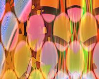 Genetic Art Curtains through Wall of Discs Orange stock illustration