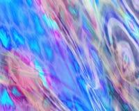 Genetic Art Flowing Colors Blue Light Blue Stock Images