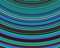 Genetic Art Heat Waves Blue Green Deep Red Royalty Free Stock Image